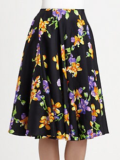 Ralph Lauren Collection - Silk Floral Skirt