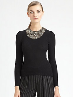 Ralph Lauren Collection - Beaded Silk Sweater