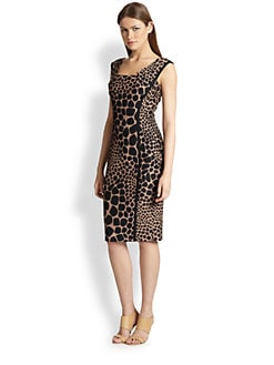 Michael Kors - Giraffe Jacquard Sheath Dress
