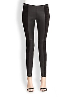 Michael Kors - Stretch Leather & Suede Leggings