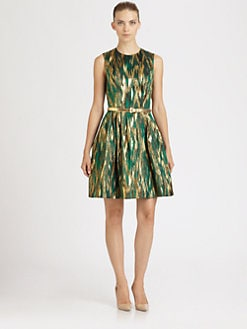 Michael Kors - Belted Jacquard Dress