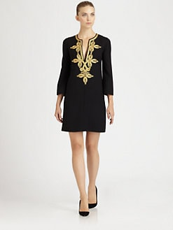 Michael Kors - Embroidered Wool Dress