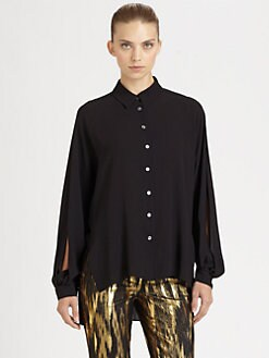 Michael Kors - Silk Split-Sleeve Blouse