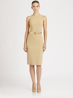 Michael Kors - Belted Wool Crepe Dress