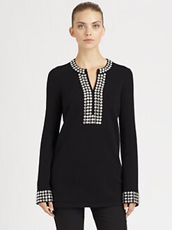 Michael Kors - Jeweled Cashmere Tunic