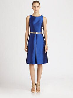Michael Kors - Belted Shantung Dress