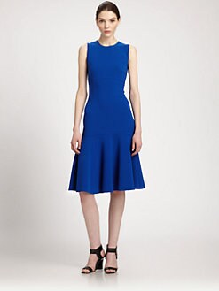 Michael Kors - Flared Wool Crepe Dress