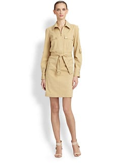 Michael Kors - Stretch Cotton Shirtdress