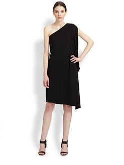 Michael Kors - One-Shoulder Jersey Toga Dress