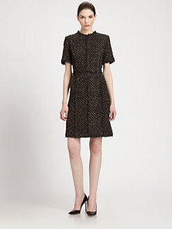 Michael Kors - Metallic-Weave Bouclé Dress