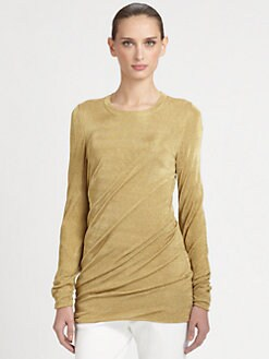 Michael Kors - Torqued Metallic Mesh Pullover