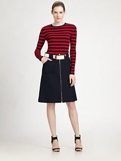 Michael Kors - Striped Crewneck Tee