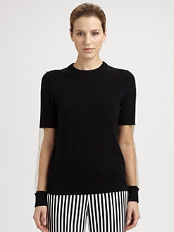 Michael Kors - Illusion Sleeve Cashmere Sweater