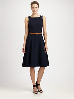 Michael Kors - Belted Flare Dress