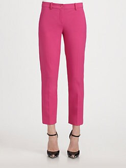 Michael Kors - Samantha Stretch Wool Cropped Straight-Leg Pants