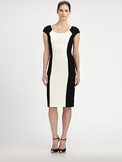 Michael Kors - Bouclé & Crepe Contrast Dress