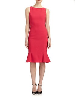 Michael Kors - Flared Stretch Wool Dress