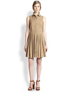 Michael Kors - Collared Cotton Poplin Dress
