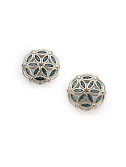 Slane - Fenestra Blue Topaz Earrings