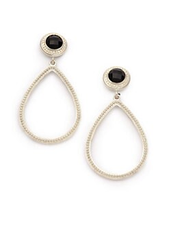 Slane - Onyx Pear Drop Earrings