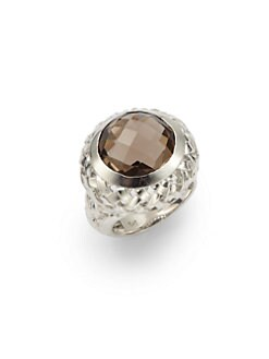 Slane - Smoky Quartz Basketweave Ring