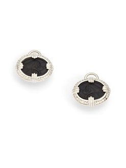 Slane - Felidae Pave Diamond Lion Earrings/Black
