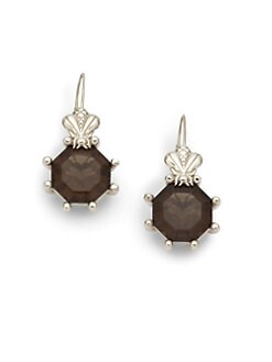 Slane - Bee Prong Earrings/Smoky Quartz