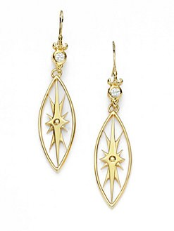 Aviva Carmy - White Topaz Regal Starburst Earrings