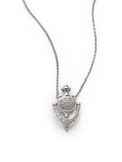 Sydney Evan - Diamond Door Knocker Pendant Necklace