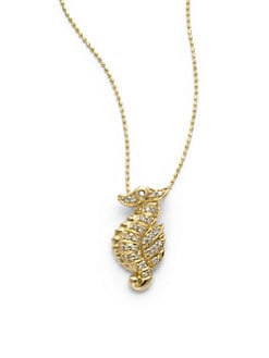 Sydney Evan - Diamond Seahorse Pendant Necklace