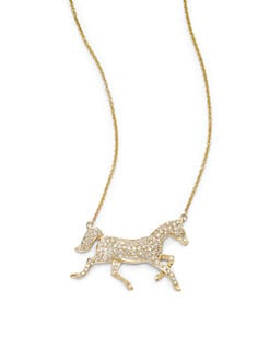 Sydney Evan - Diamond Horse Pendant Necklace