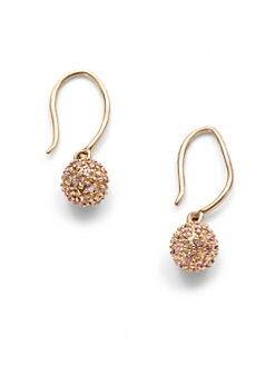 Sydney Evan - Pink Sapphire Sphere Drop Earrings