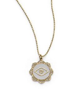 Sydney Evan - Diamond & Enamel Evil Eye Pendant Necklace