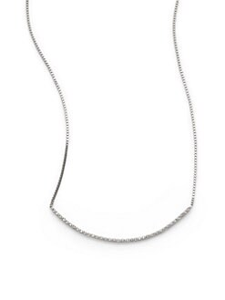 Sydney Evan - Diamond Bar Necklace/White Gold