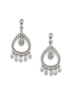 Sydney Evan - Diamond Bezel Chandelier Earrings