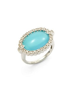 Sydney Evan - Diamond & Chalcedony Ring