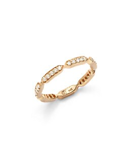 Sydney Evan - Diamond Pave Geometric Band Ring/Rose