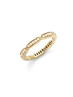 Sydney Evan - Diamond Pave Geometric Band Ring/Gold