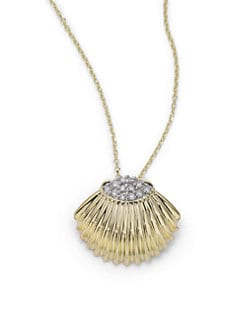KC Designs - Diamond Seashell Pendant Necklace