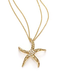Sydney Evan - Diamond Starfish Pendant Necklace