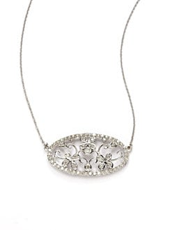 Sydney Evan - Diamond Antique-Inspired Floral Pendant Necklace