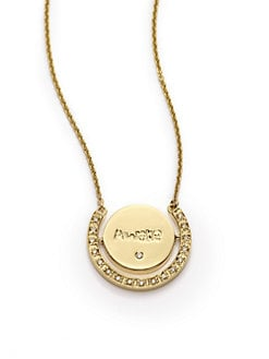 Sydney Evan - Diamond Pav&#233; Lotus Pendant Necklace/Yellow Gold