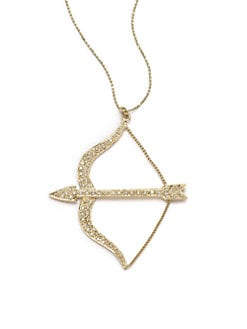 Sydney Evan - Diamond Large Bow & Arrow Pendant Necklace