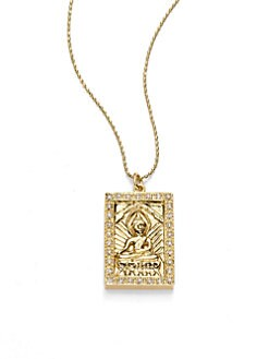 Sydney Evan - Diamond Buddha Pendant Necklace