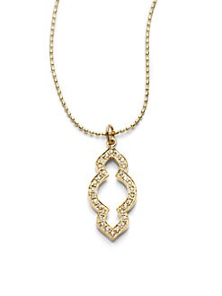 Sydney Evan - Diamond Mini Moroccan Pendant Necklace