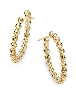 Di Modolo - Triadra Medium Hoop Earrings/Yellow Gold