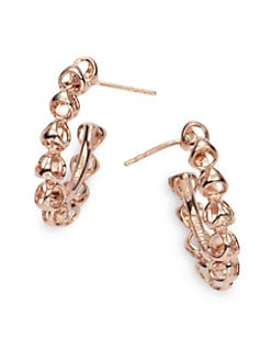 Di Modolo - Triadra Small Hoop Earrings/Rose Gold