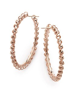 Di Modolo - Triadra Large Hoop Earrings/Rose Gold