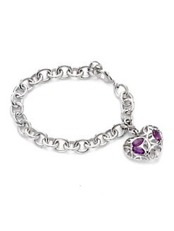 Di Modolo - Amethyst Heart Medallion Bracelet