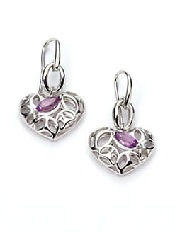Di Modolo - Amethyst Heart Medallion Earrings